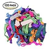 Elastici per capelli, elastici Htianc fascette fasce per capelli per bambine–100Packs