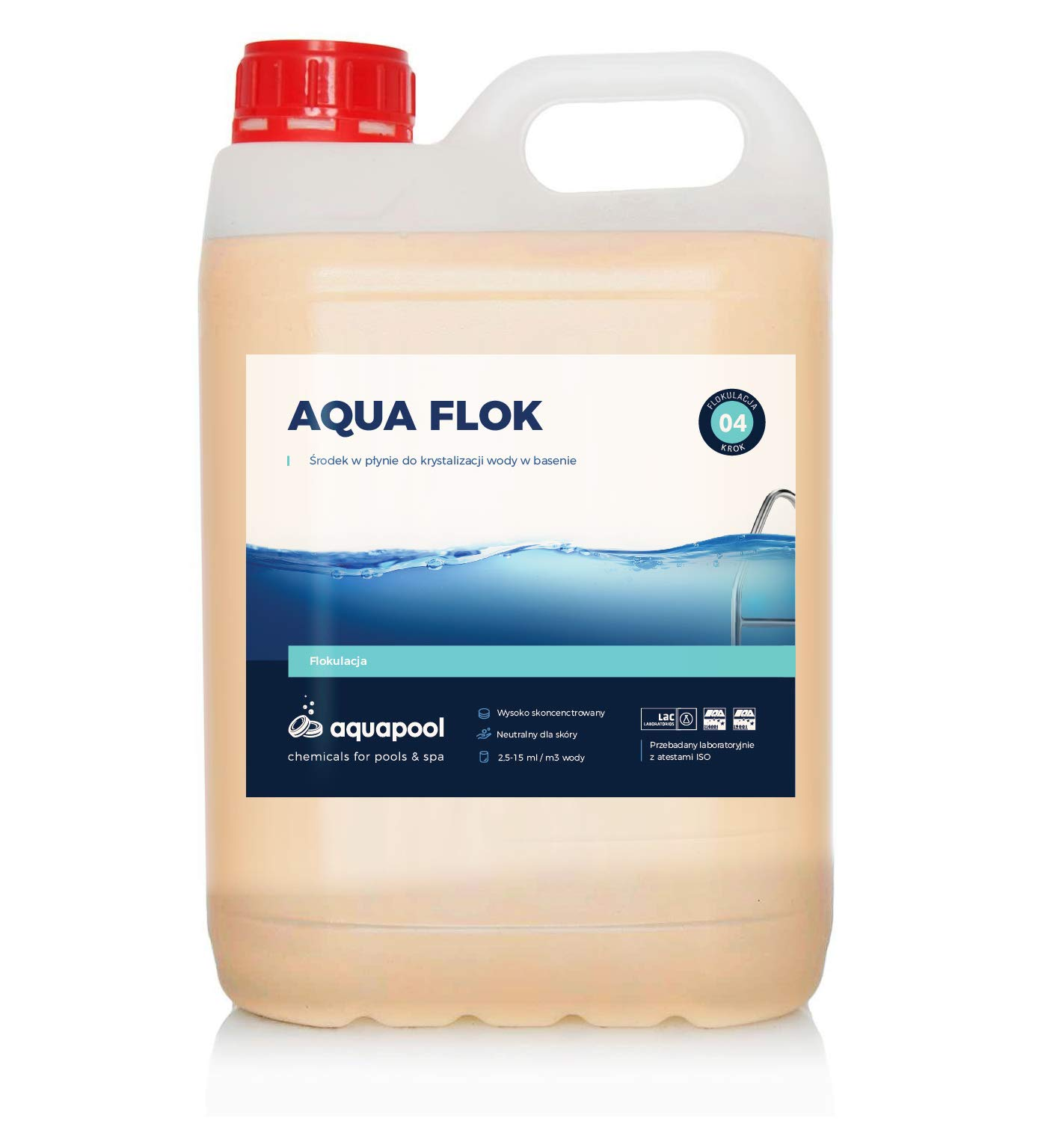 Aquapool flocculant floc crystal clear water clarifier hot - Liquid flocculant for swimming pools ...