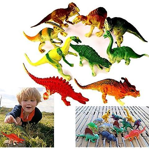 Dazzling Toys vasto assortimento di dinosauri grandi 12.5-17.8cm,confezione da 24 figure (D051/2)