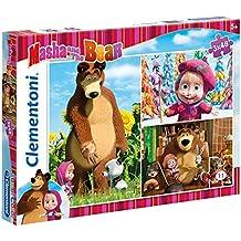 Clementoni - Puzzle 3 x 48, Masha and the Bear (252008)