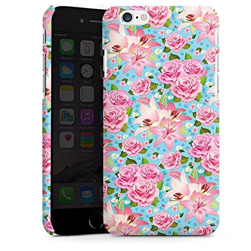 Apple iPhone X Silikon Hülle Case Schutzhülle Rosen Frühling Flower Premium Case matt
