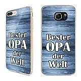 Handyhülle Beste Oma Bester Opa Samsung Silikon Geschenk Vatertag Mutti Motiv, Handy:Samsung Galaxy J3 (2016), Hüllendesign:Design 1 | Silikon Klar