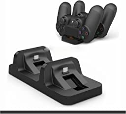 Microware Dual Charging Dock Station for DualShock PS4 Slim and PS4 Pro Wireless Controller
