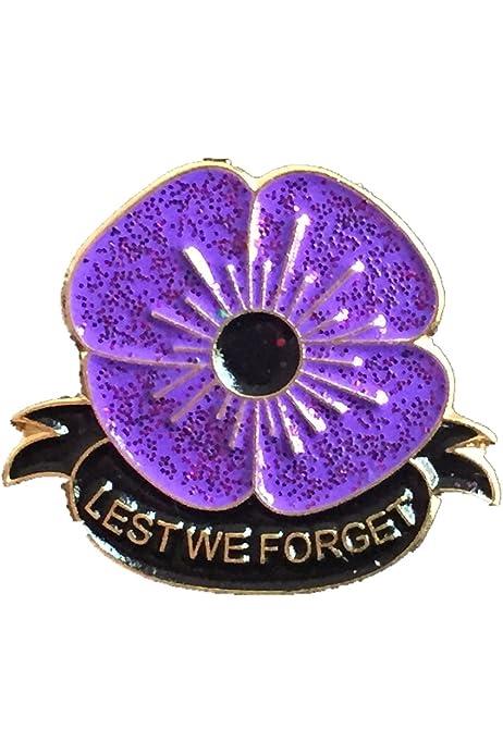 Rare World War Veteran White Poppy Brooch Enamel Pin Badge Style A