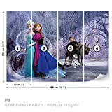 FORWALL DekoShop Disney Frozen Fototapete Tapete Disney Eiskönigin AD1632P8 (368cm x 254cm) Photo Wallpaper Mural