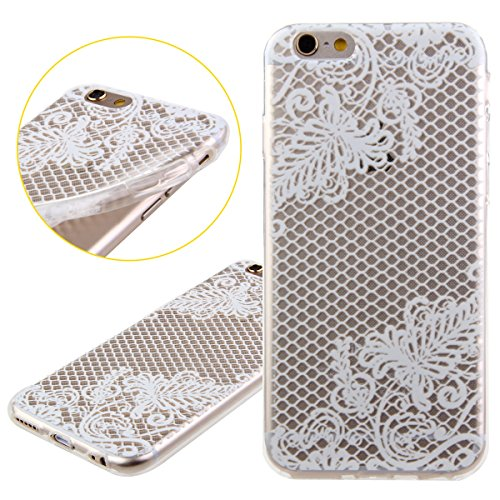 iPhone 6S Hülle,iPhone 6 Hülle [Scratch-Resistant],iPhone 6S 6 Hülle 4.7, ISAKEN iPhone 6S iPhone 6 4.7 Ultra Slim Perfect Fit Christmas Weihnachtstag Geschenk Muster Malerei TPU Clear Transparent Pro Blumen W