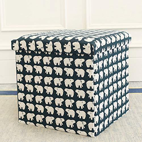 Funlea Nordic Nette Folding Storage Ottoman Cube Faserplatten Waschbar Hocker Home Wohnzimmer Erwachsene Faltbare Ändern Schuhe Bank Platzsparende Aufbewahrungsbox Für Sitz Ruhen - Schwarz Folding Osmanischen