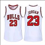 Camiseta de baloncesto transpirable Michael Fabric Home Jordan #23 sin mangas Chicago Tops deportes al aire libre Toros Compe