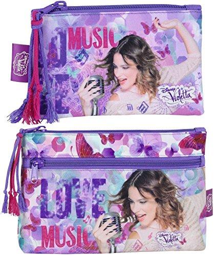 Disney violetta xl matita mini astuccio portapenne, lilla