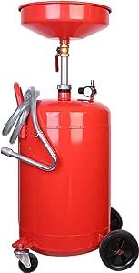 Trad4u Ölablassgerät Ölauffanggerät Ölauffangwanne Ölauffangwagen Altölgerät 80 Liter Auto