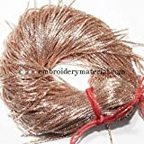#5: Embroiderymaterial Zardozi Spring Material,Bullion Wire/Nakshi for Jewellery and Embroidery Purpose,1MM, Rose Gold Color(100 Gram)