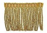 15,2cm lang Edelstahldraht Fransen Rand, Stil # Englische–Mittel- und Light Gold–Golden Strahlen 4875(Verkauft von der Hof)