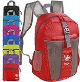 Faltbarer Rucksack für Männer Frauen Kinder Leichter Reiserucksack Tagesrucksack (Red)