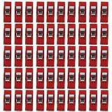 landsell Clips Klemmen für Plastikbindung Nähen Handwerk Rot 50PCS