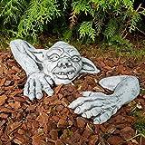 Stein-Figur lustiger Gnom Kobold frostfest Deko Garten