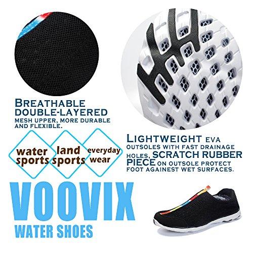 Voovix Leggero Scarpe d'acqua Aqua per Uomo nero02