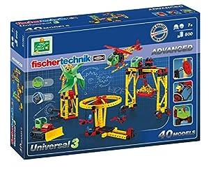 Fischertechnik Universal 3 - Iníciate en el Mundo de los Juegos de Construcción con este Divertido y Educativo Juguete con 40 Modelos.