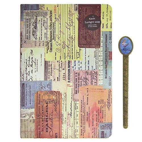 viaggio-diario-vintage-gazzetta-compatto-vacanza-planner-a5-con-bookmaker-ruler-misura-unica-a