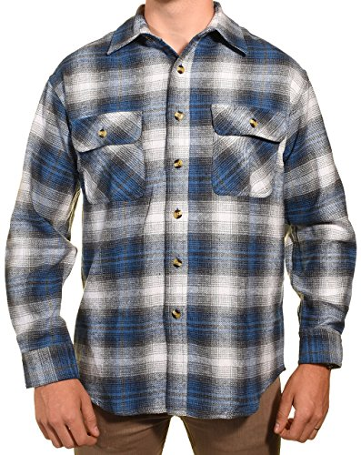 Guides Choice Pro Elite Herren Flanellhemd - Blau - Large Hoch -