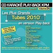 CD Karaoké Play-Back KPM Vol.24 Tubes 2010