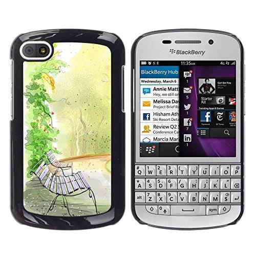 WonderWall Tapete Bunt Bild Handy Hart Schutz hülle Case Cover Schale Etui für BlackBerry Q10 -...