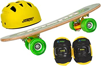 "Jaspo Eagle Eye Eco Junior Skateboard Combo (18*5"" ) (Skateboard+hemet+elbow) (for age group upto 6 years)"