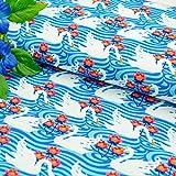 Emily&Joe's fabrics Jersey Stoff Meterware Schwan Schwäne