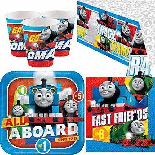 Amscan bpwfa-4179 Friends Thomas the Tank Engine Party Geschirr Pack für 8 Personen inkl. Becher/Teller/Servietten/Tisch Cover 3-Pack multi (Thomas The Tank Engine Party)