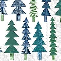 Kuusikossa verde Marimekko verde pino alberi di Natale Luncheon tovaglioli di carta da tavola da 20pezzi a 33cm quadrati