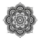 Moginp Wandsticker,Blume Mandala Schlafzimmer Wandtattoo Aufkleber Wand Home Vinyl Familie (SW)