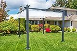 Gazebo Pergola in alluminio con telo retrattile cm. 400x300 da esterno o da giardino