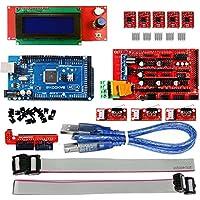KOOKYE 3D-Drucker Controller Komplettset (RAMPS 1.4 + 2004 LCD + Mega2560 + 3 Stück Endanschlagschalter + 5 Stück A4988 Schrittmotortreiber)