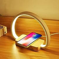Lampe de Chevet Chargeur sans Fil, Lampe de Table Tactile avec Port USB, Lampe de Bureau LED avec 3 Niveaux de Luminosié…
