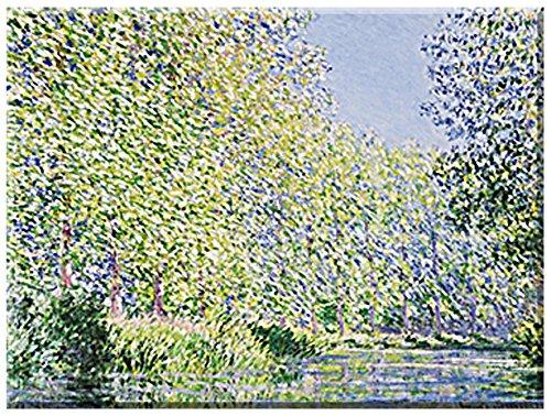 Giverny, Monet-museum (Epte , Fluss bei Giverny von Claude Monet , Grösse 80 cm x 60 cm , Giclee , Digitaldruck auf Leinwand gedruckt, mit Keilrahmen , Leinwandfertigbild , Wohnen und Bilder, französischer Impressionismus, Kunst aus dem Museum)