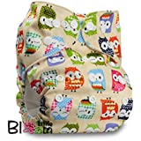 """LittleBloom, Reusable Pocket Cloth Nappy, Fastener: Popper, Set of 1, Pattern 4, Without Insert, (see """"Special Offers and Product Promotions"""" for Special Offers Detail)"""