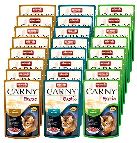 Katzenfutter Getreide Ohne (Animonda Katzenfutter Carny Exotic Mix 1 aus 3 Varietäten, 24 er Pack (24 x 85 g))