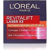 L'Oréal Paris Crema Viso Giorno Revitalift Laser X3, Azione Antirughe Anti-Età con Acido Ialuronico e Pro-Xylane, Protezione