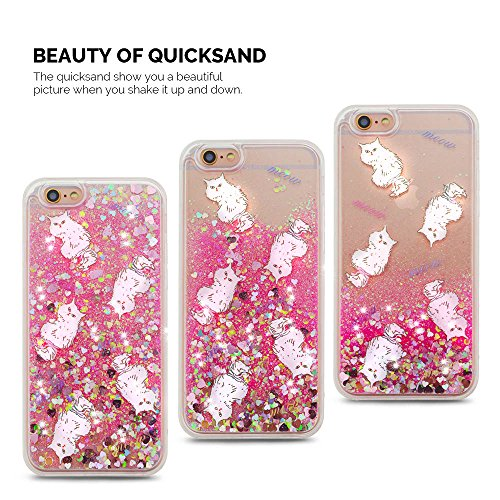 Cover iPhone 6/6S (4.7 pollici) Spiritsun iPhone 6 Custodia TPU Moda Elegante Case Cover Soft Silicone Back Cover Protezione Bumper Funzione Shell Morbida Flessible TPU Bling Bling Flowing Cover Per i Cinque Gatti