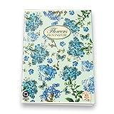 Pigna Nature Flowers 02088365M, Quaderno formato A4, Rigatura 5M, quadretti 5 mm per 2° e 3° elementare, Carta riciclata 80g/mq, Pacco da 10 Pezzi