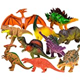 """Toysery Realistic Looking Dinosaurs Toys Set For Kids - Plastic Assorted Dinosaur Toys Figures - Pack Of 10pcs, 5-Inches"""""""