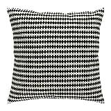 IKEA STOCKHOLM Kissen in schwarz/weiß; (50x50cm)