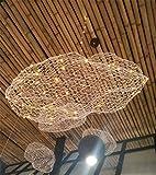 Lh$yu Retro Industrielle Stil Baumwolle Weiß Wolken Wolke Großer Kronleuchte