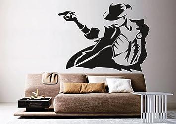 Creative Width Michael Jackson Wall Sticker Decal   Part 17