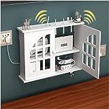 PPGE Home Caja Router WiFi para Pared Estante de Almacenamiento de Router Blanco Caja de Almacenamiento para Router y Cables