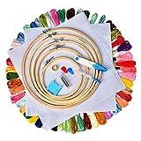 Cozywind Punto Croce Kit 50 Colori Matassine Punto Croce Ricamo Set per Principianti Fai da Te Cucitura a Croce Usato per Ricamo (Kit One)