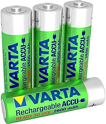 Varta 05716 - Batería/Pila recargable (2600 mAh, Universal, Níquel metal hidruro, 30 g, ampolla)