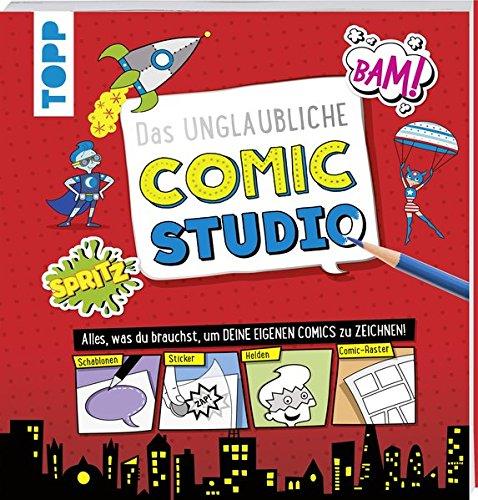 Das unglaubliche Comic Studio: Alles, was du brauchst, um deine eigenen Comics zu zeichnen! Mit Schablonen, Stickern, Heldenfiguren und Comic-Rastern (Lernen, Zu Zeichnen, Cartoons Für Kinder)