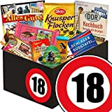 Geschenk zum 18. Geburtstag | Schokolade Geschenk Männer | mit Zetti Schlager Süßtafel, Viba Schicht Nougat Stange und mehr | Schokoladen Box