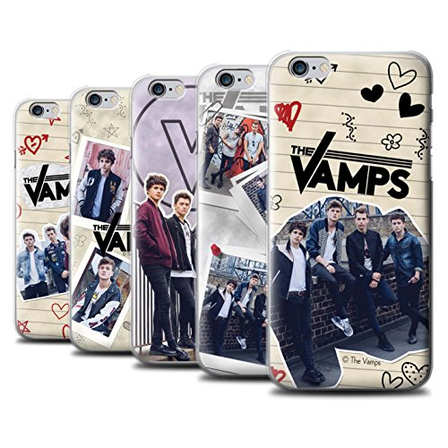 Offiziell The Vamps Hülle / Case für Apple iPhone 6S+/Plus / Pack 5Pcs Muster / The Vamps Doodle Buch Kollektion Pack 5Pcs