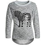 BEZLIT Mädchen Langarmshirt Wende-Pailletten Zebra 21513 Grau Größe 116